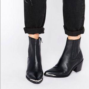 ASOS Reneta Western Leather Chelsea Boot